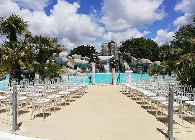 mariage tropical deco