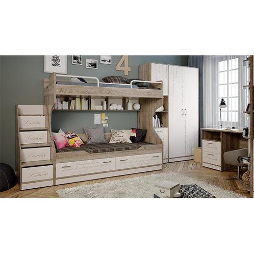 Набор детской мебели «Брауни» №2 (Фон бежевый с рисунком/Дуб Сонома трюфель)