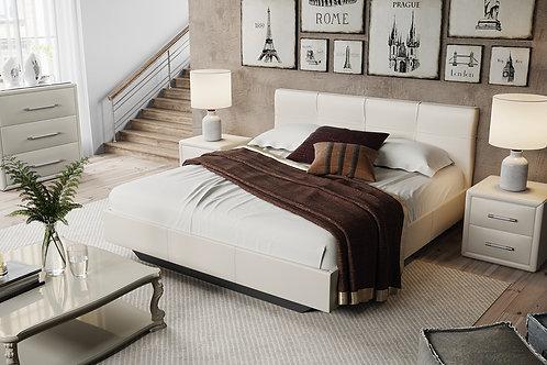Кровать «Элис» c мягкой обивкой тип 1 (Светлая)