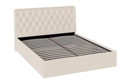 Кровать «Скарлет» с мягким изголовьем (Бежевая)