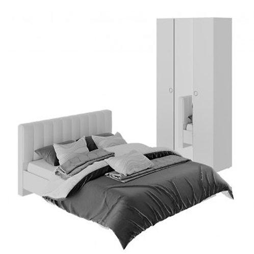 Спальный гарнитур «Глория» стандартный (Белый/Белый глянец)