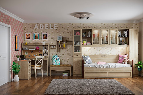 Молодежная комната ADELE (Сонома). Комплект 7