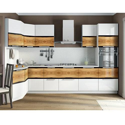 Угловая кухня «Фэнтези» №2 (Фэнтези (Белый универс.)/Фэнтези (Вуд))
