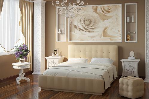 Кровать Лорена 140*200 (без страз) + основание 140