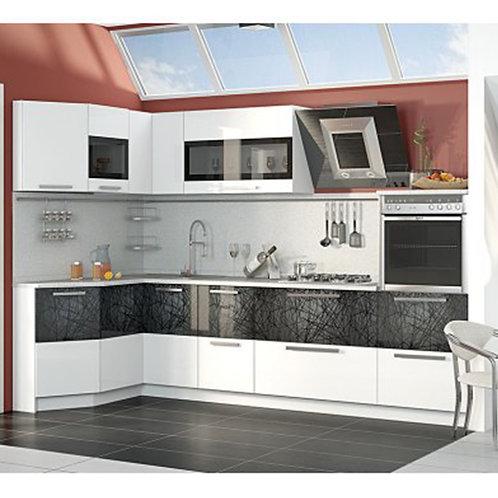 Угловая кухня «Фэнтези» №5 (Фэнтези (Белый универс.)/Фэнтези (Лайнс))