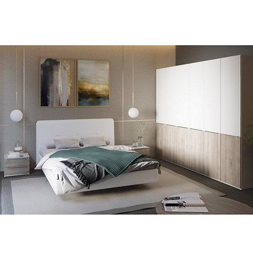 Спальный гарнитур «Синди» №1 (Белый глянец/Баттл Рок)