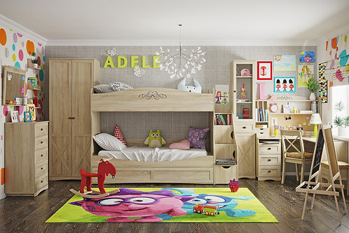 Молодежная комната ADELE (Сонома). Комплект 6