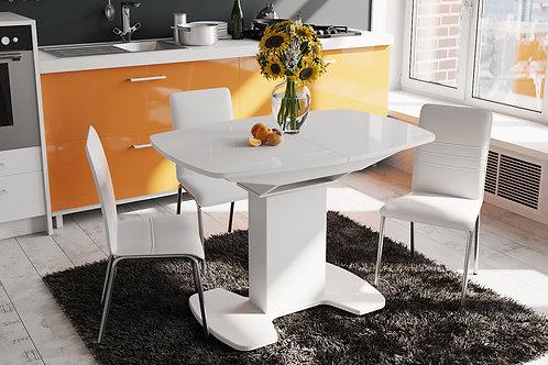 Стол обеденный «Портофино» (Белый глянец/Стекло белое)