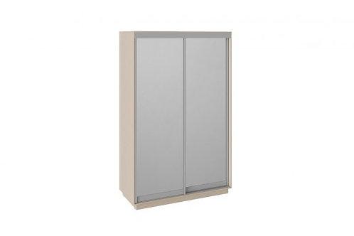 Шкаф-купе 2-х дверный «Румер» (Дуб молочный, Зеркало/зеркало)