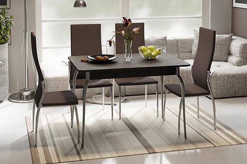 Стол обеденный на металлических ножках «Гамбург» (Ательер темный)