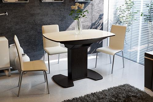 Стол обеденный «Портофино» (Венге/Стекло бежевое)