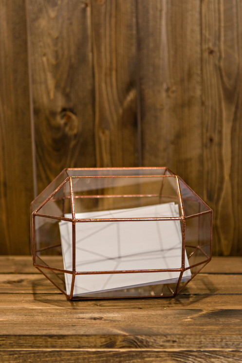 Glass Terrarium Card Holder