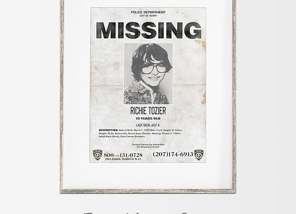 Richie Tozier : IT Missing Poster
