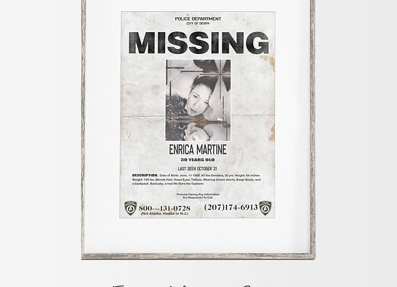 Personalised : IT Missing Poster