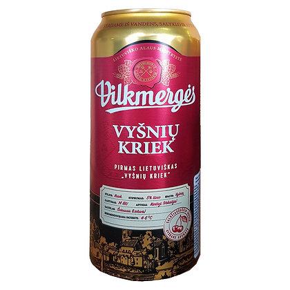 Пиво Vilkmerges Vyšnių Kriek темне фільтроване з вишневим соком 0.5L 5%