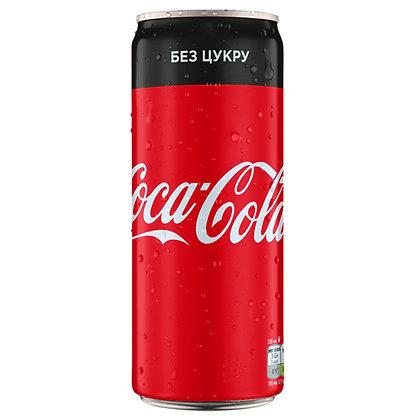Напій без цукру газований Coca-Cola Zero 0.33L