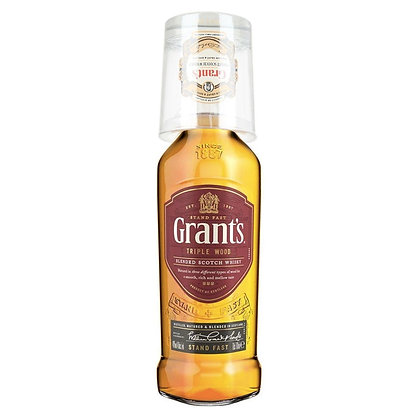 Віскі Grant's Triple Wood 1L 40% + фірмовий келих