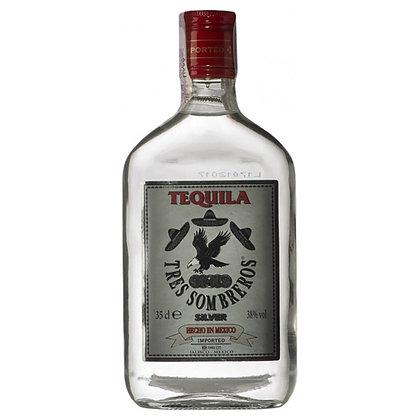 Текіла Tres Sombreros Silver 0.35L 38%