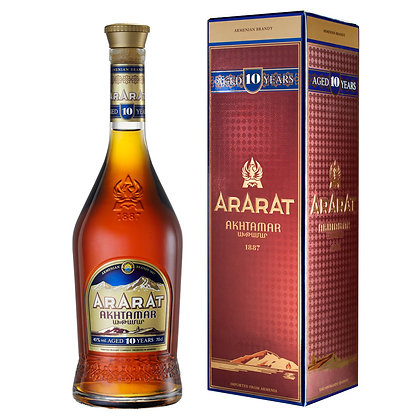 Бренді ARARAT Akhtamar 10 років 0.5L 40% в коробці