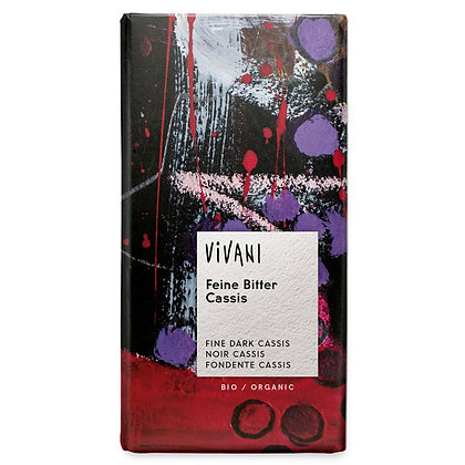 Шоколад чорний органічний з чорною смородиною Vivani 60% 100г