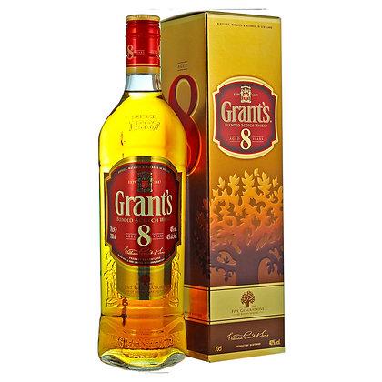 Віскі Grant's 8 Years Old 0.7L 40% в коробці
