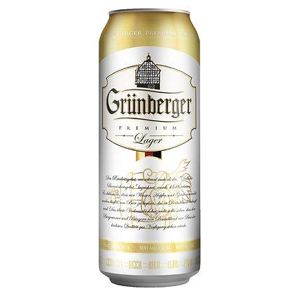 Пиво Grunberger світле фільтроване 0.5L 5%