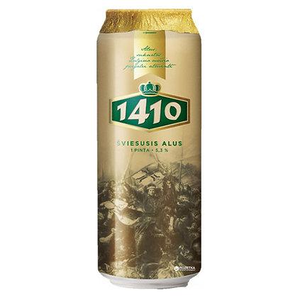 Пиво Volfas Engelman 1410 Sviesusis Alus світле фільтроване 0.568L 5.3%