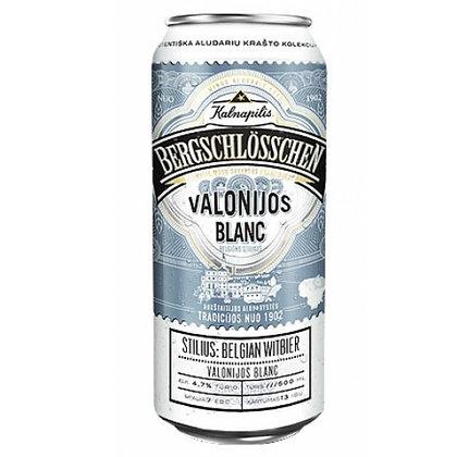 Пиво Kalnapilis Valonijos Blanс світле нефільтроване 0.5L 4.7%