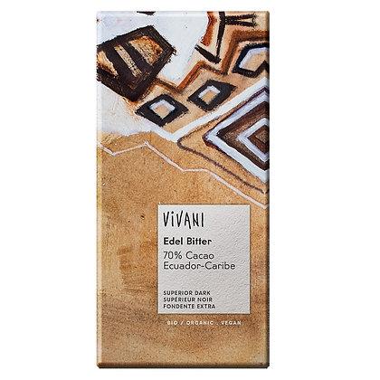 Шоколад чорний органічний Vivani 70% 100г