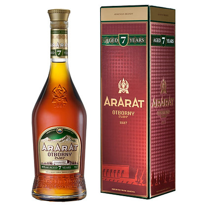 Бренді ARARAT Otborny 7 років 0.7L 40% в коробці
