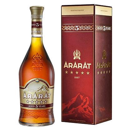 Бренді ARARAT 5* 0.5L 40% в коробці