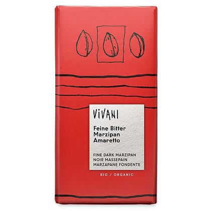 Шоколад чорний органічний з марципаном та амаретто Vivani 60% 100г
