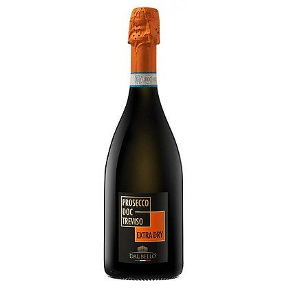 Вино ігристе Dal Bello Prosecco DOC Treviso Extra Dry білесухе