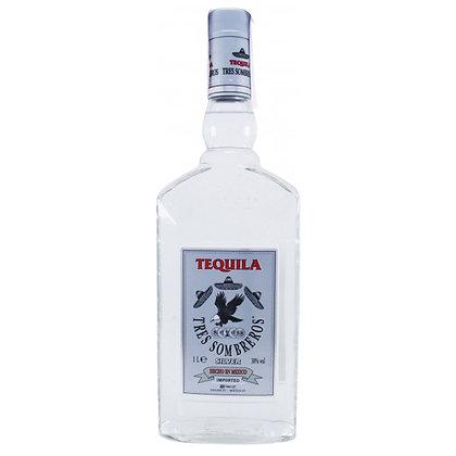 Копия Текіла Tres Sombreros Silver 1L 38%