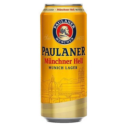 Пиво Paulaner Original Munchner Hell світле фільтроване 0.5L 4.9%