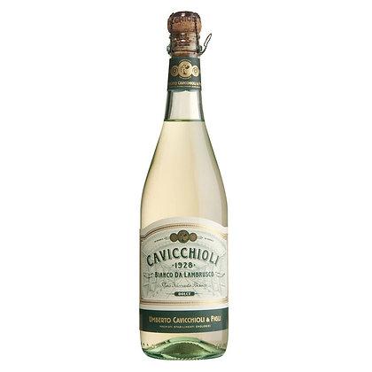 Вино ігристе Cavicchioli Lambrusco Emilia IGT Bianco Dolce біле напівсолодке