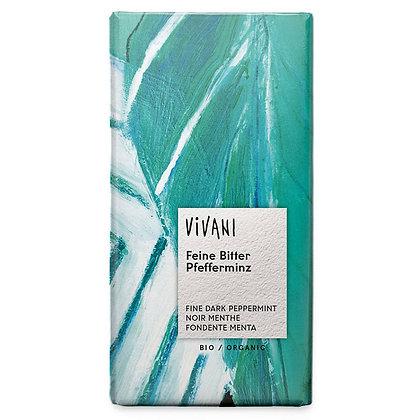 Шоколад чорний органічний з м'ятою Vivani 68% 100г