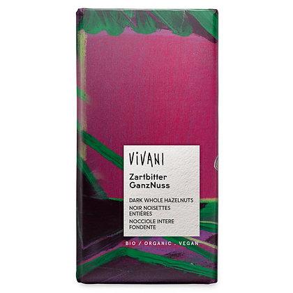 Шоколад чорний органічний з цільною ліщиною Vivani 55% 100г