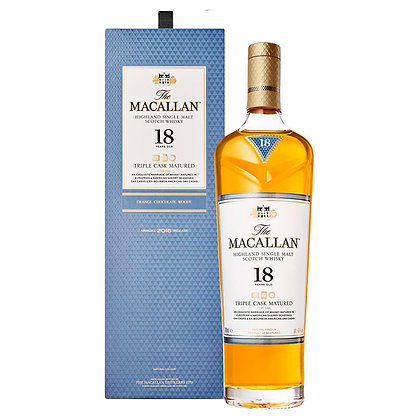 Віскі The Macallan Triple Cask 18 YO 0.7L 43% в коробці