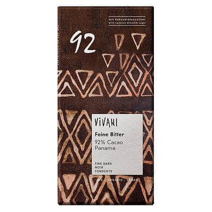Шоколад чорний органічний Vivani 92% 80г