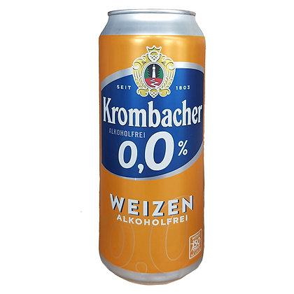 Пиво Krombacher Weizen світле нефільтроване 0.5L 0%