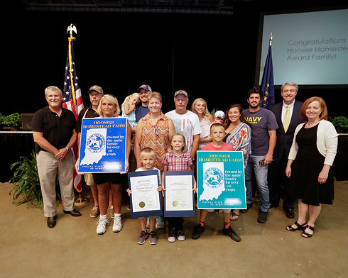 Our Family with the Hoosier Homestead Award