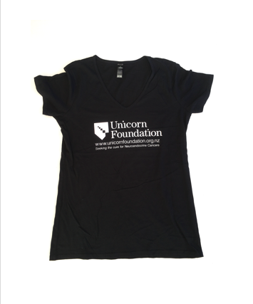Unicorn Foundation NZ AS Colour Womens BEVEL V-NECK TEE