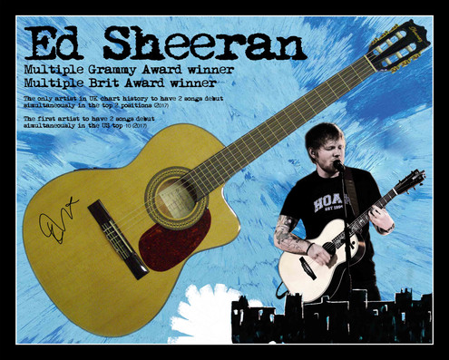 Ed Sheeran signed guitar