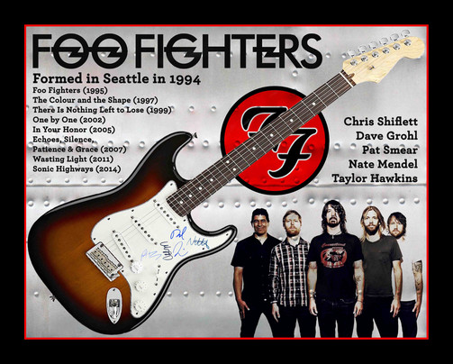 Foo Fighters signed Fender guitar