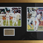 Richard Hadlee signed 8x10 double photo.