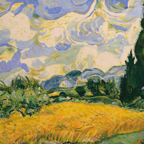 Pšeničné pole s cypřiši / A Wheatfield with Cypresses