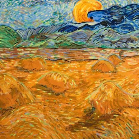 Krajina s východem slunce / Field with rising sun