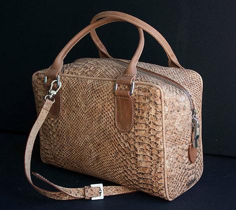 Cork Snakeskin Handbag w/strap (ec-0513sk)