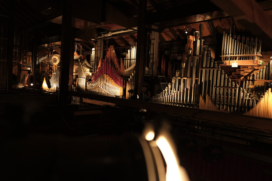 Partie supérieure de l'orgue